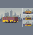 side view autobus or public transport with city vector image