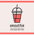 smoothie logotype template vector image vector image