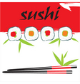 sushi background vector image vector image
