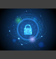 technology of cyber security and interfaces vector image vector image