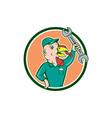 Turkey Mechanic Spanner Circle Cartoon vector image vector image