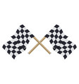 two crossed checkered racing flags in flat style vector image vector image