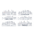 website banner and landing page paris london new vector image vector image