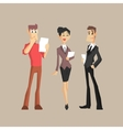 Three Office Workers vector image