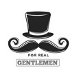 private club only for real gentlemen black and vector image