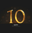 10 years happy anniversary card vector image vector image