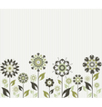 abstract flowers on striped background vector image vector image