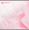 abstract lowpoly on pink color background vector image vector image
