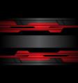 abstract red grey black metallic cyber vector image vector image