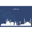 Ankara city skyline on blue background