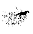 autumnal background with horse vector image vector image