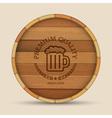 Beer label in form wooden barrel vector image vector image