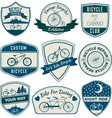 Bicycle Vintage Badges Set vector image vector image