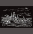 black hand drawing moscow 1 vector image vector image