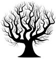 black silhouette bare tree vector image vector image