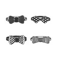 bow tie set sketch engraving vector image vector image
