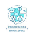business learning concept icon vector image vector image