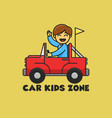 car kids zone good for logo and badge play zone vector image vector image