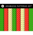 christmas seamless patterns set geometric vector image