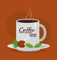 coffee time related vector image vector image