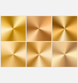 collection of golden conic gradients vector image