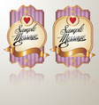colored vintage label pink vector image vector image