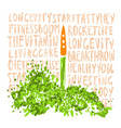 concept a healthy lifestyle vector image vector image