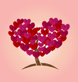 concept tree with heart leaves for valentines vector image