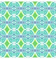 Decorative ornamental pattern with circular shapes vector image