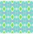 Decorative ornamental pattern with circular shapes vector image vector image