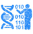 dna research grunge icon vector image vector image