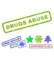 Drugs Abuse Rubber Stamp vector image vector image