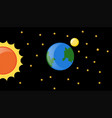 earth and sun in the galaxy vector image