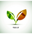 Eco green leaves vector image vector image