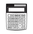 electronic black calculator vector image