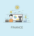 finance strategy digital technologies charts and vector image vector image