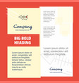 fish skull company brochure title page design vector image