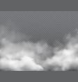 fog smoke mist steam cloud transparent background vector image