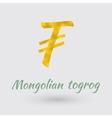 Golden Mongolian Togrog Symbol vector image vector image
