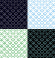 Green and Blue Scales Seamless Pattern Set vector image vector image