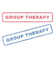 group therapy textile stamps vector image vector image