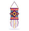 happy diwali festival vibrant color hanging lamp vector image vector image