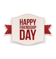 Happy Friendship Day festive Banner vector image vector image