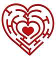 Heart maze vector | Price: 1 Credit (USD $1)