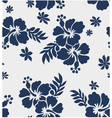 Hibiscus flower seamless pattern vector | Price: 1 Credit (USD $1)