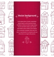 Houses background with pace for text vector image vector image
