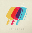 Ice cream summer concept color design vector image