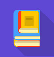 interesting book icon flat style vector image vector image