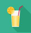 juice glass icon flat icon with long shadow vector image vector image