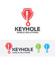 keyhole shield logo design vector image